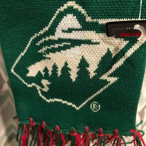 Brand New MN Wild Hockey Scarf Fringe Red Green